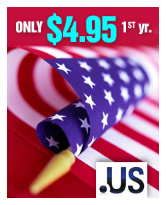 .us - only $4.95 1st yr.